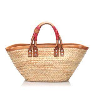 Brown Balenciaga Bistrot Panier Tote Bag.